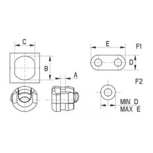 Strain relief clip (Series 121)