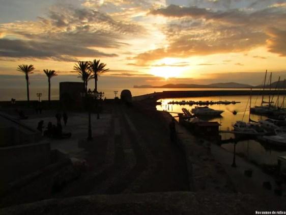 Puesta de sol en Alguer, Cerdeña
