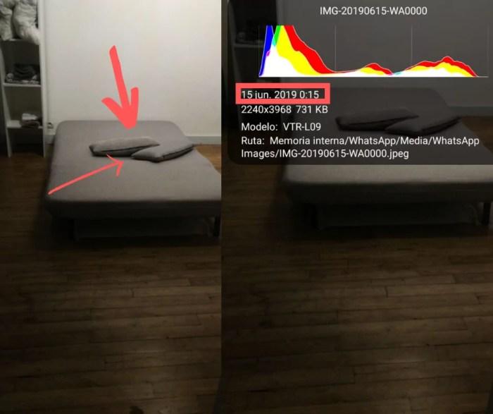 Cama de un alojamiento de airbnb