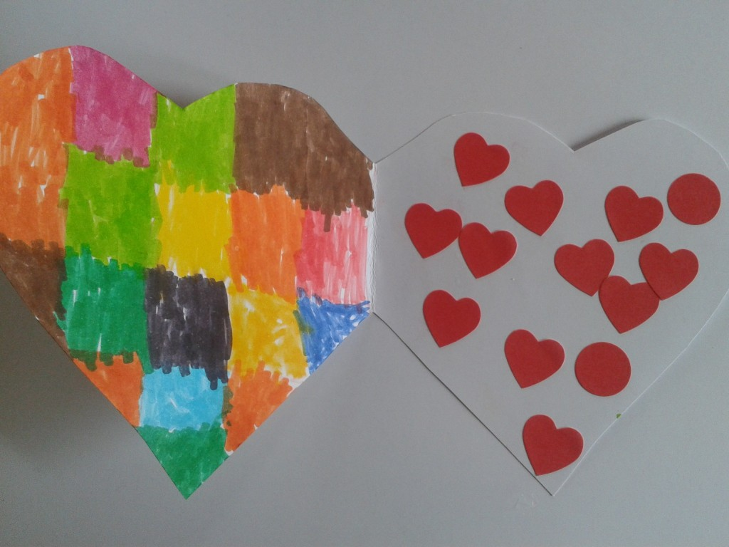 Carte enfant Saint Valentin