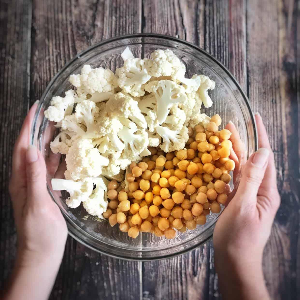 sheet pan cauliflower and couscous