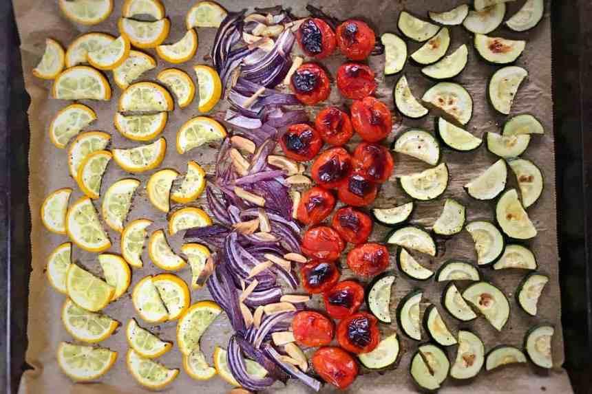 roasted vegetables for pasta salad