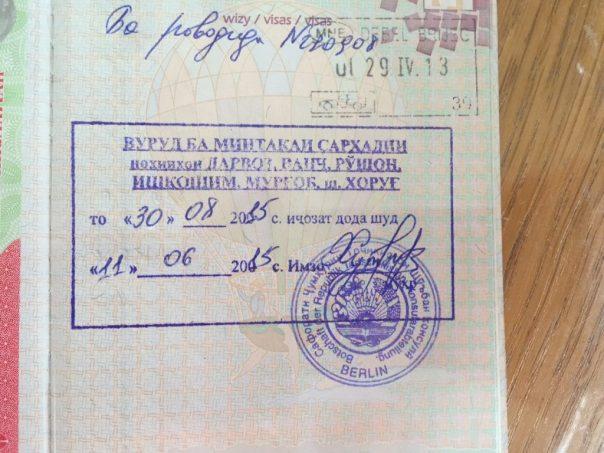 Sławny GBAO permit (Górskobadachszański Okręg Autonomiczny)