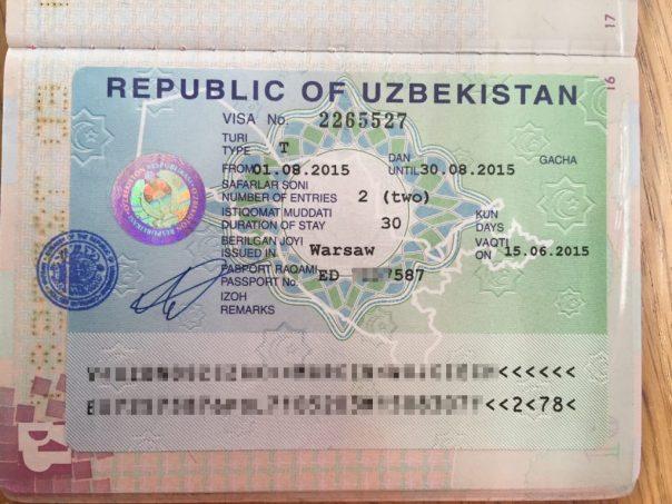 Wiza uzbekistanu