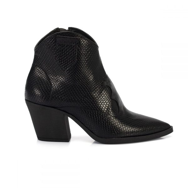 46191c9ab8 bota country west cobra preto salto baixo bico fino sintetico vegano  feminina bota feminina animal print