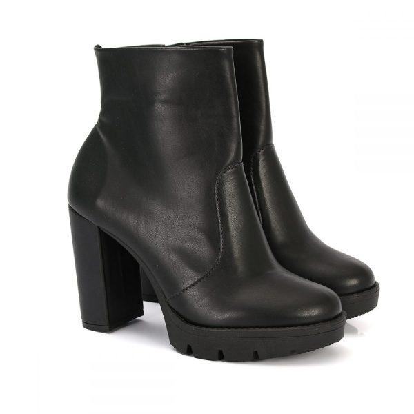5b5b8cce016 Coturno Feminino Salto Alto Tratorado Preto – Not-me Shoes