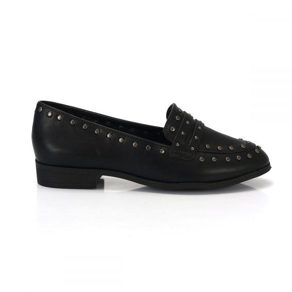 7f1969641b Mocassim Slipper Tachas Preto – Not-me Shoes