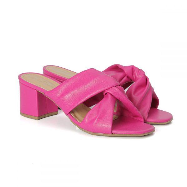 tamanco, sandália tiras cruzadas, sandália nó, sandália verão, anos 80 salto bloco, rasteirinh, pink, rosa
