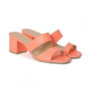tamanco, sandália tiras cruzadas, sandália nó, sandália verão, anos 80 salto bloco, rasteirinha, SANDÁLIA MINIMAL, CORAL, SALMÃO