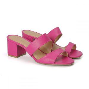 tamanco, sandália tiras cruzadas, sandália nó, sandália verão, anos 80 salto bloco, rasteirinha, SANDÁLIA MINIMAL, fúcsia
