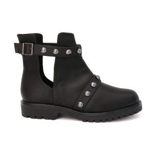 Ankle Boot Feminina Dark Tachas Preta
