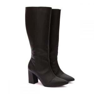 Bota Feminina Over The Knee Preta