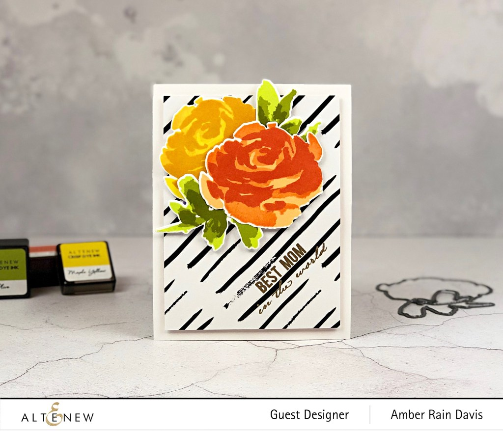 Altenew Painted Rose Handmade Greeting Card