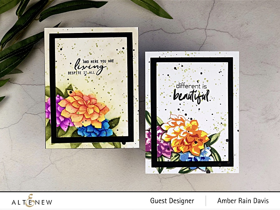 Watercolor Craft Project Resuscitation Watercolor and Layer Stampet Set