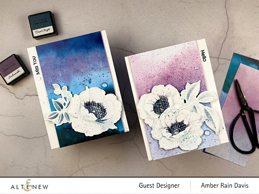 Selective Inking with Altenew Wallpaper Art Stamp Set