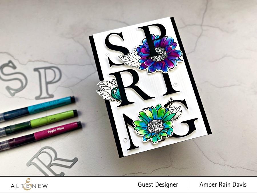 Bold Watercolor & Typography Handmade Card Design