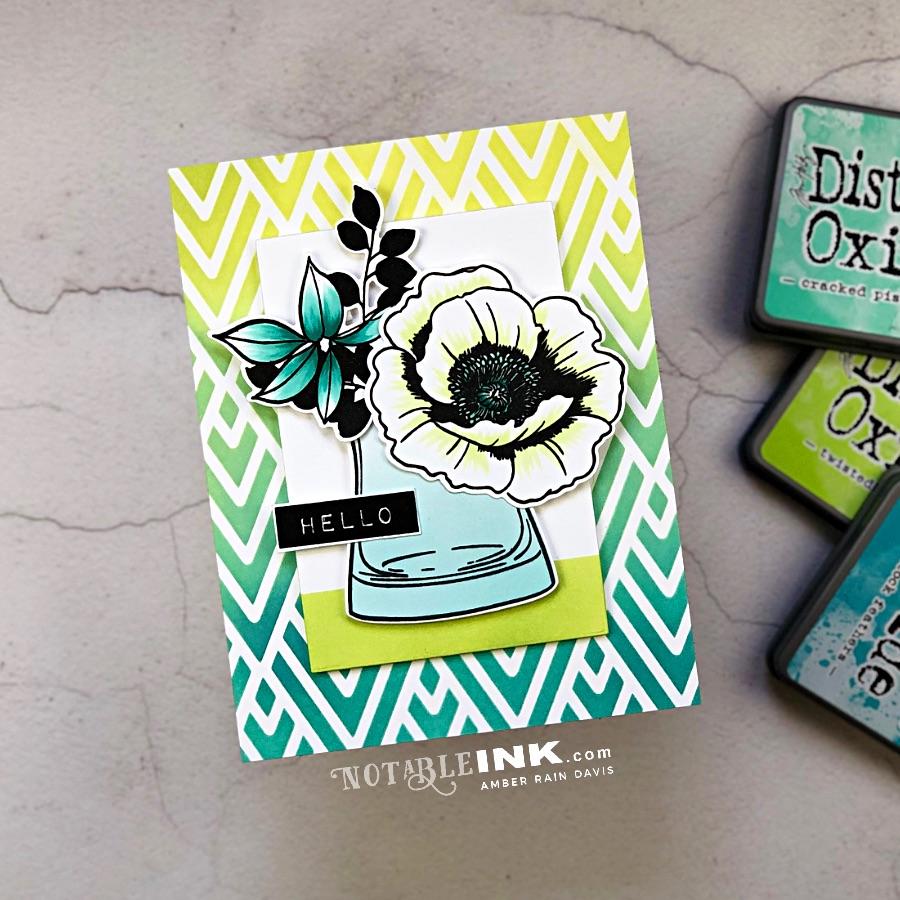 Dry Embossing & Distress Oxide Ink Blending