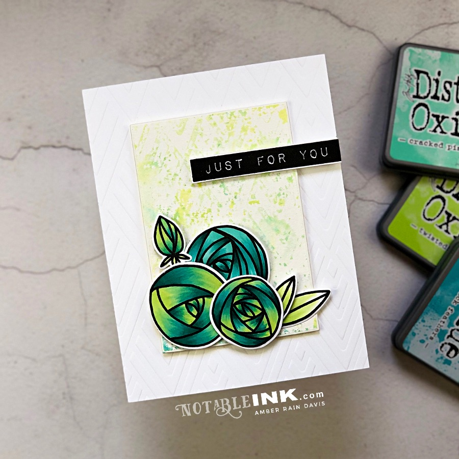 Dry Embossing & Ink Smooshing with Distress Oxides