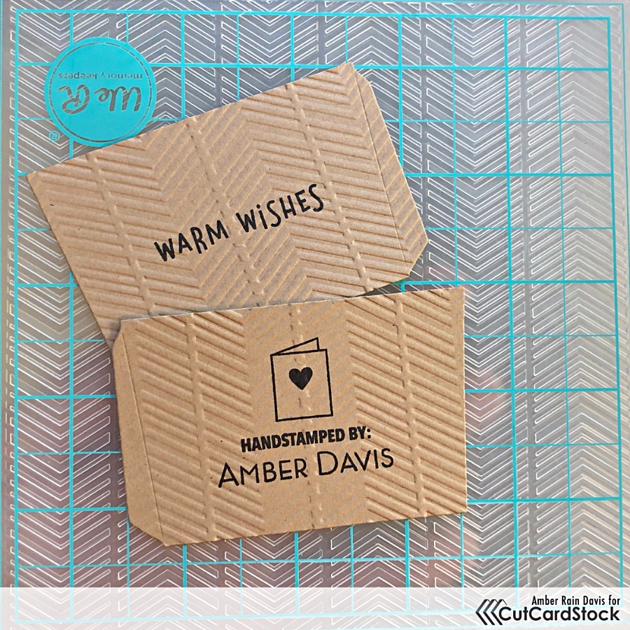 Embossing the Coffee Cup Sleeves