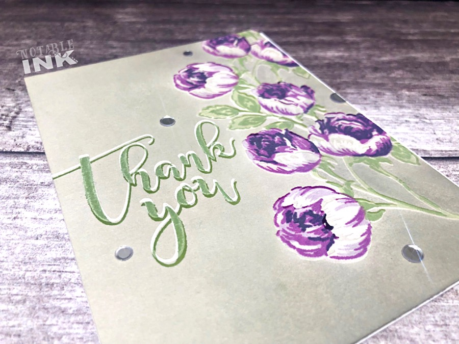 Altenew Sweet Rose Bouquet on colored cardstock