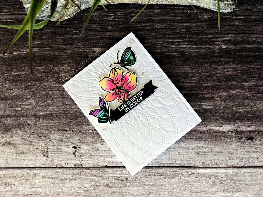 Altenew Wild Hibiscus Stamp Set