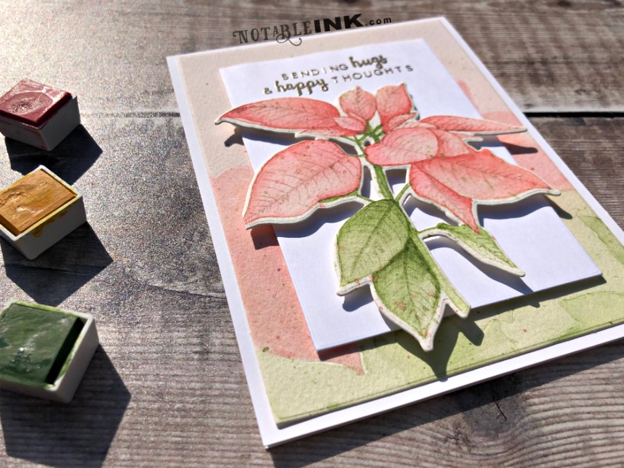 Craft Project Resuscitation Series: Watercolor Whoops with Altenew Festive Poinsettia