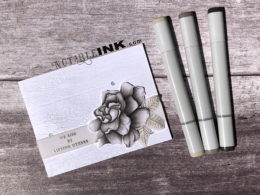 Copic Coloring Assisted by a Altenew Build-A-Flower: Gardenia Layer Stamp