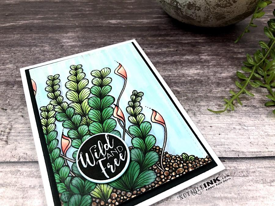 Altenew Love Letters reimagined as Zentangle® sea plants.