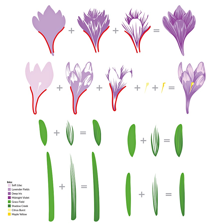 Altenew Build-A-Flower: Crocus Layering Guide
