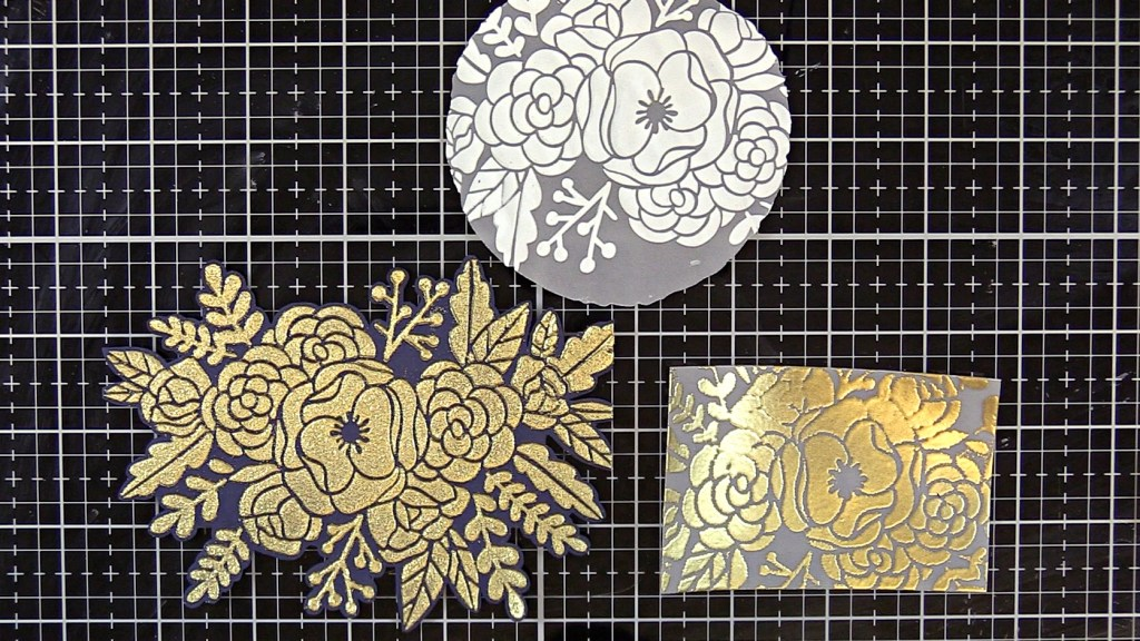Embossing paste on vellum