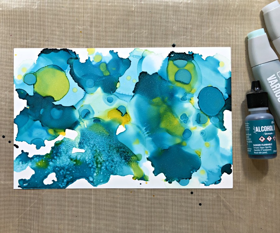 Create Alcohol Ink Panel