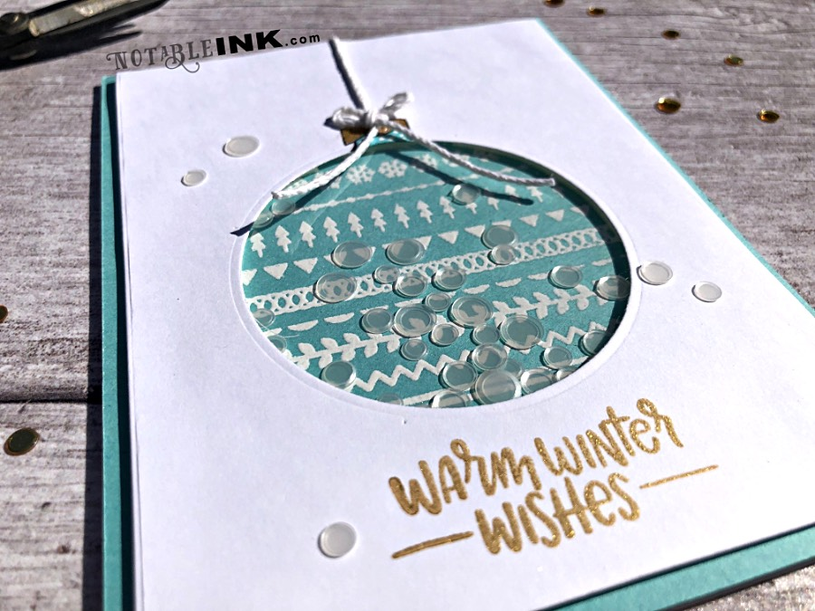 Ornament Shaker Cards featuring Simon Says Stamp Critter Sweaters