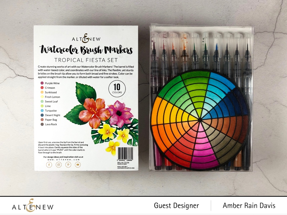 Store Altenew Color Wheel Die in Altenew Watercolor Brush Markers Packaging