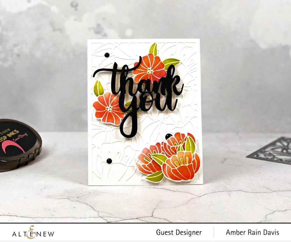 Altenew Dainty Blooms Cover Die & Altenew Floral Garden Stencil