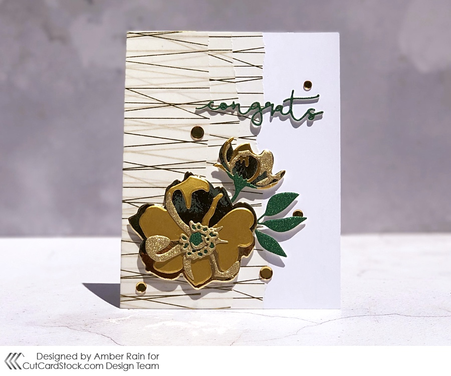 Mixing Gold Cardstocks for Cutcardstock.com