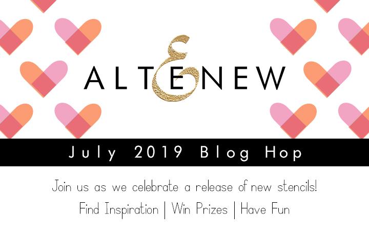 ALTENEW JULY 2019 STENCIL RELEASE BLOG HOP • NotableInk com