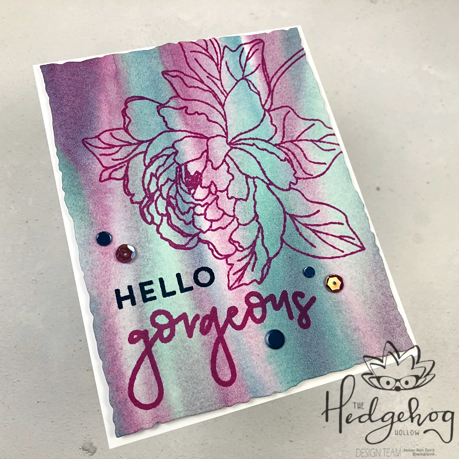 Close Up | Easy Watercolor Background for Handmade Cards