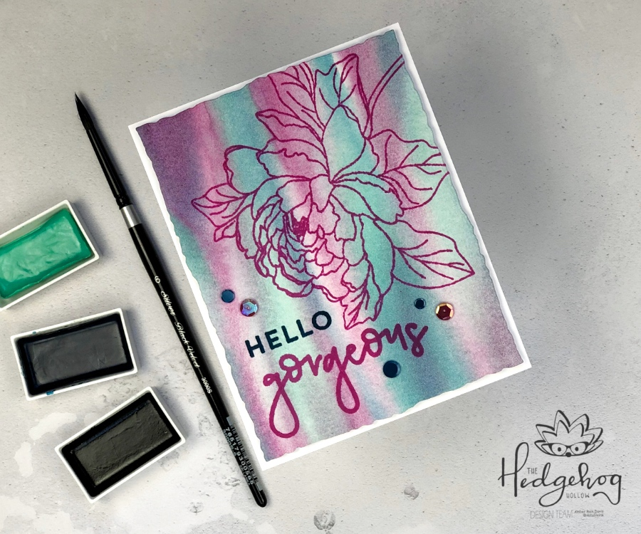 Easy Watercolor Background | The Hedgehog Hollow August 2019 Box