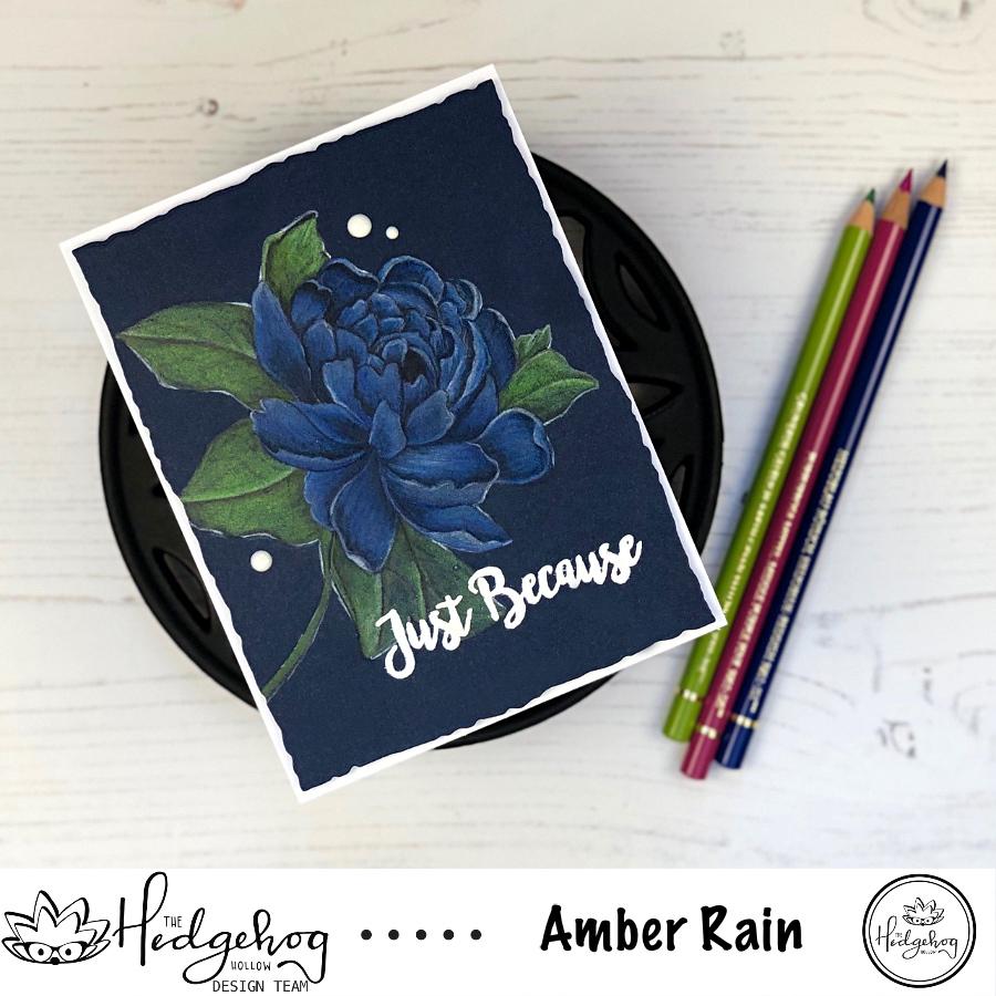 Color Pencils on Dark Cardstock | The Hedgehog Hollow August 2019 Kit | Alex Syberia Designs