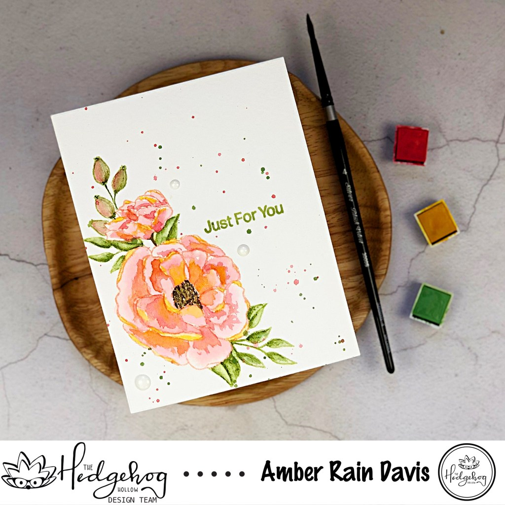Loose Watercolor Florals | The Hedgehog Hollow + Alex Syberia Design August 2019 Kit