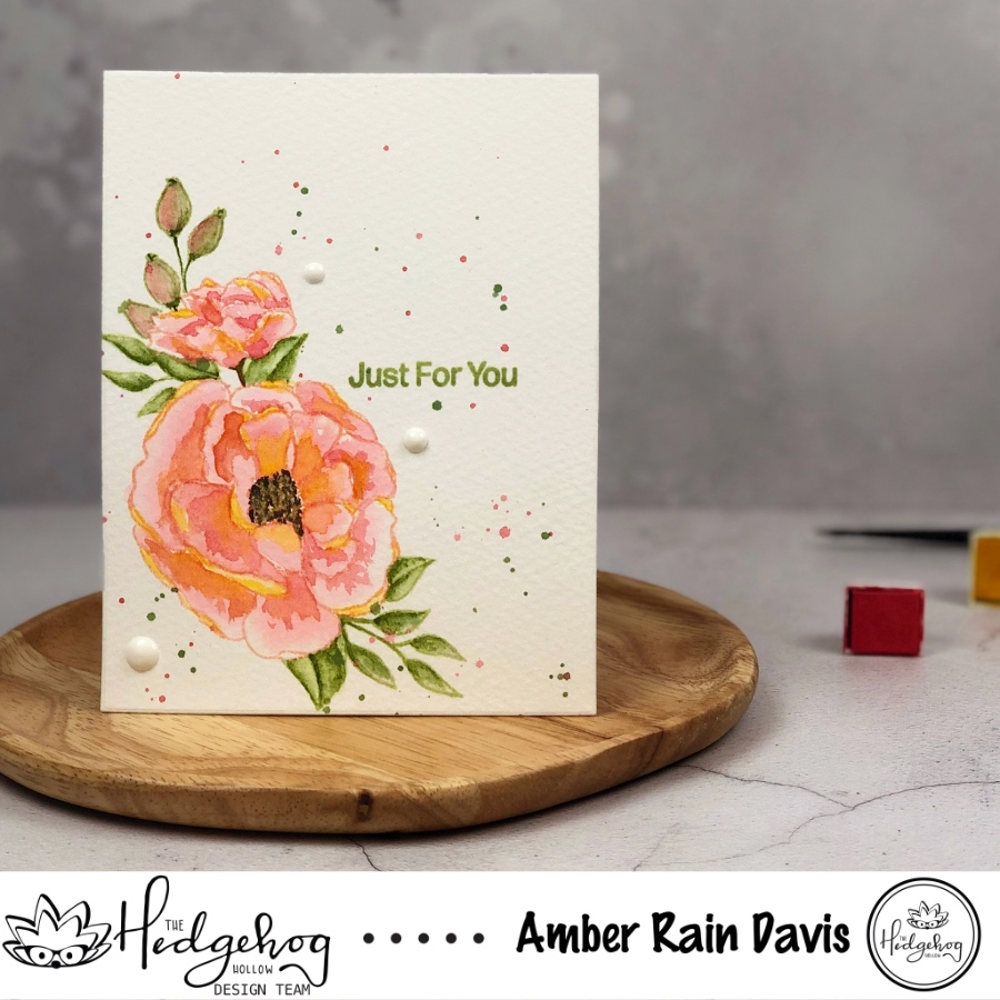 Loose Watercolor Florals | The Hedgehog Hollow + Alex Syberia Design August 2019 Kit