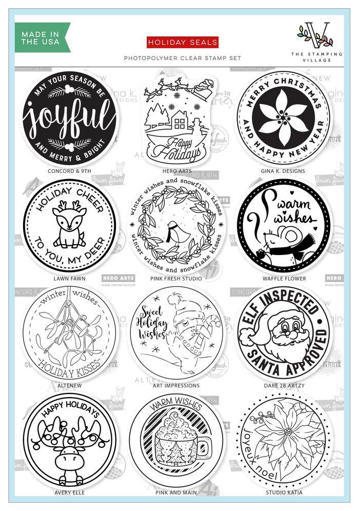 Altenew Holiday Seals Stamp Set