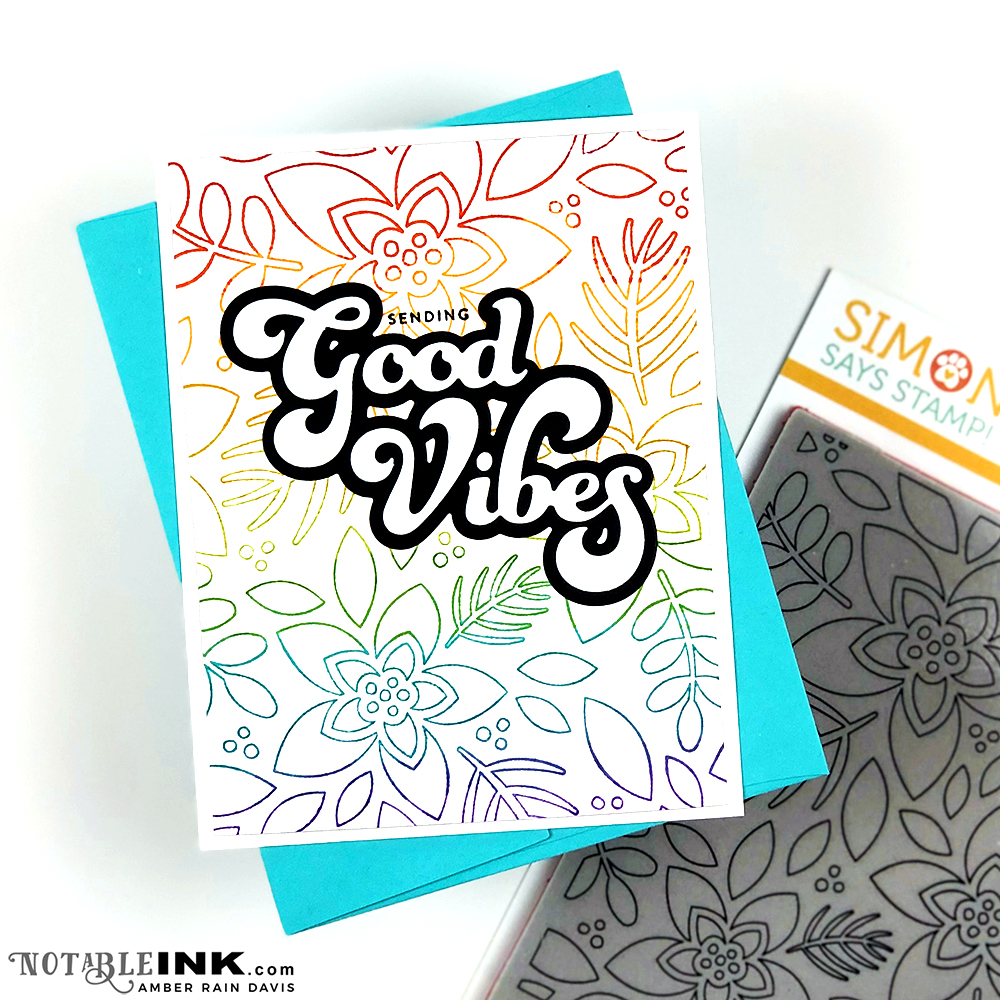 Simon Says Stamp Outline Winter Floral