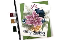 Watercolor Christmas Bouquet | Alex Syberia & Letter Sparrow