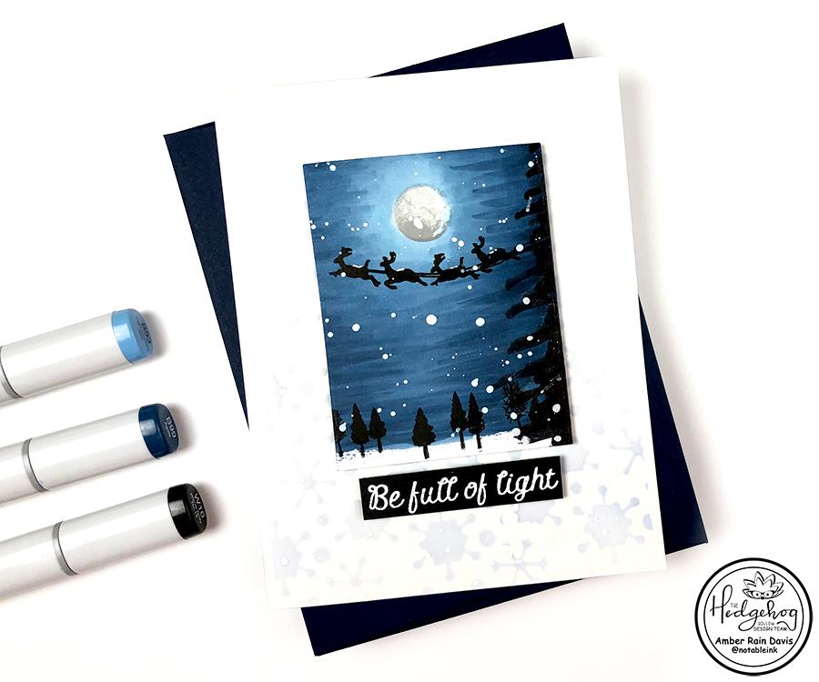 Mini Copic Winter Scene