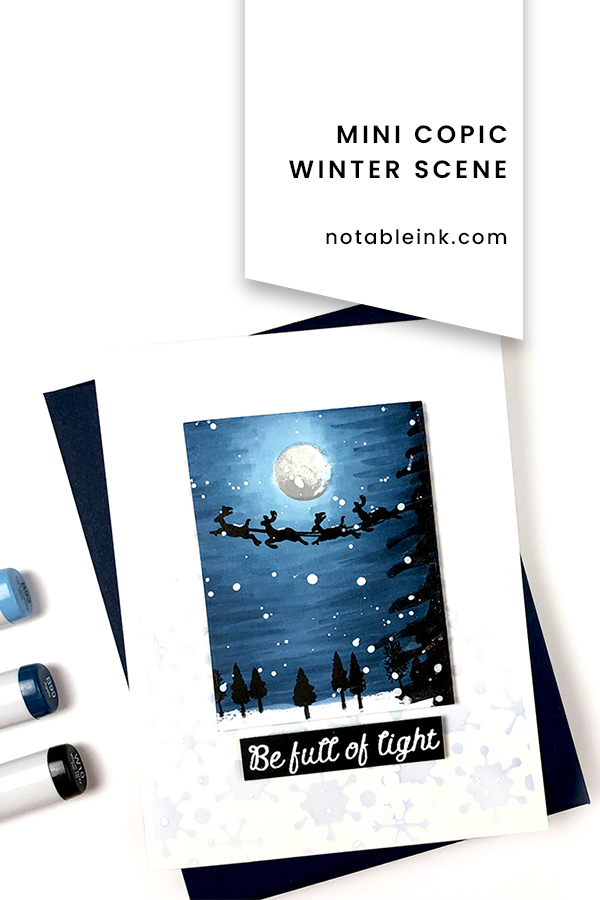 PINTEREST | Mini Copic Winter Scene