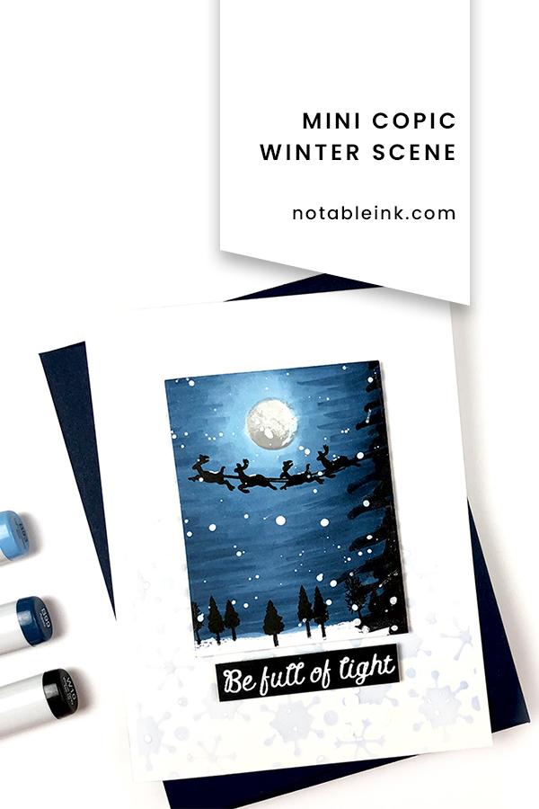 PINTEREST | Mini Copic Winter Scene