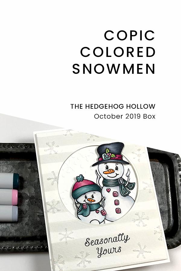 Pinterest | Copic Colored Snowmen