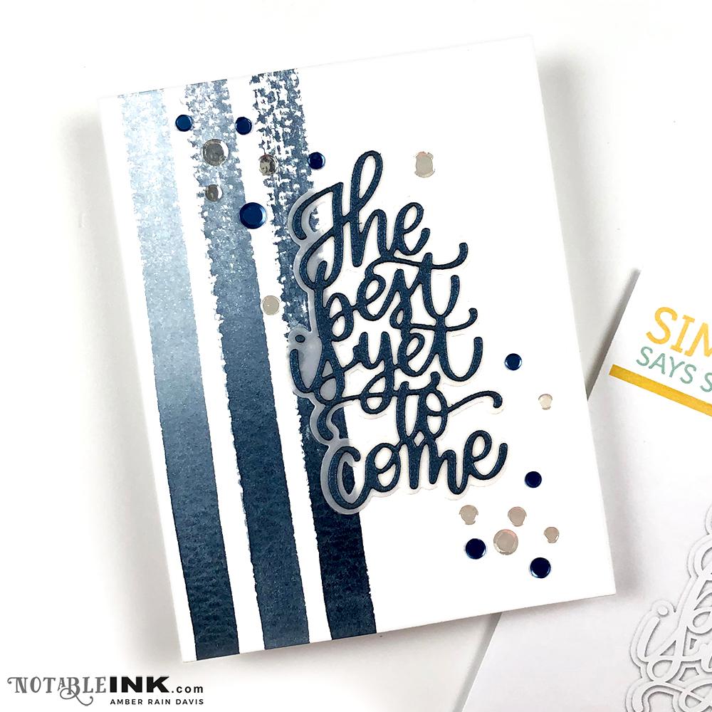 CAS Watercolor stripes handmade card