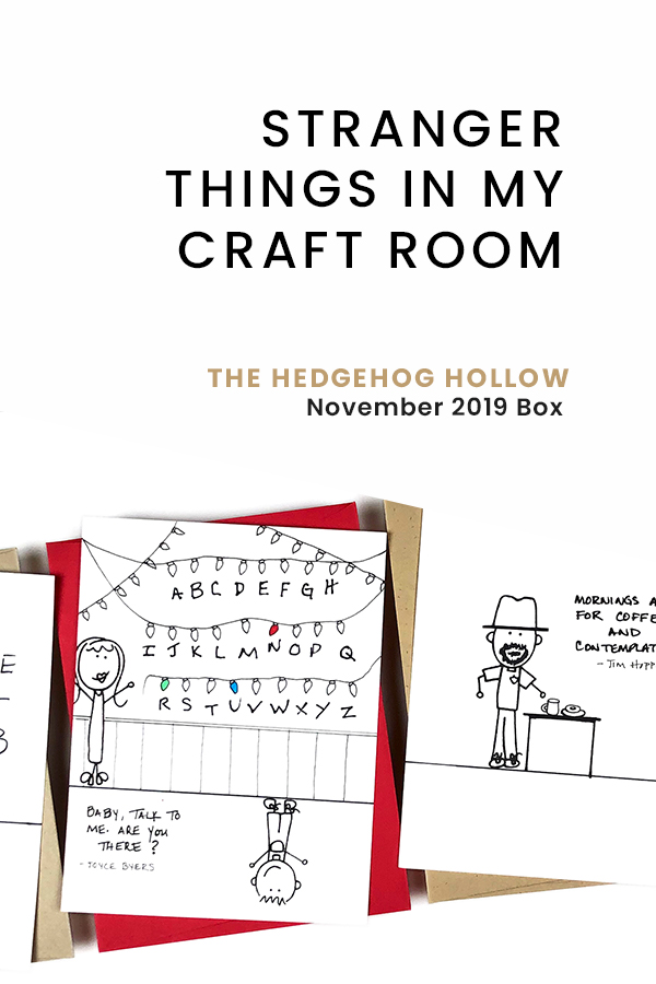 PINTEREST | Stranger Things in My Craft Room